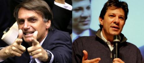 Sondagem do instituto Paraná Pesquisas mostra Jair Bolsonaro vencendo Fernando Haddad no segundo turno