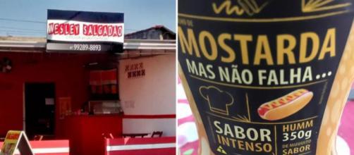 A criatividade do brasileiro não tem limites quando se trata de nomear seus negócios e produtos. Fotos: Reprodução.