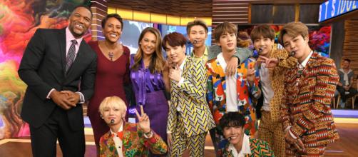 BTS performs on Good Morning America, image ABC - headlineplanet.com
