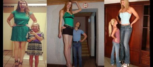 Fotos de algumas mulheres muito altas