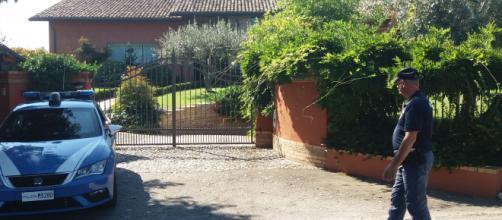 La villa dei coniugi Martelli, vittime di una violenta rapina nei giorni scorsi