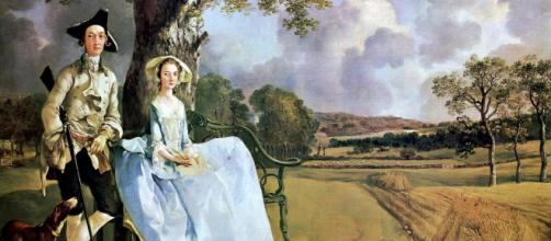 """Mr. and Mrs. Andrews"" by Thomas Gainsborough Image Source: National Gallery 