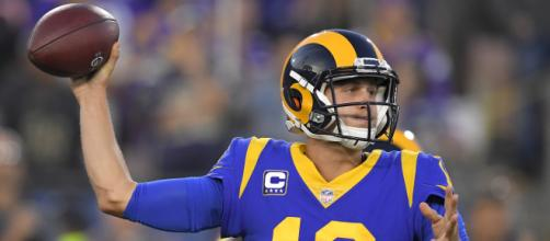 Jared Goff had 465 yards and five touchdowns in propelling the Rams past the Vikings, 38-3. -1 [FOX / YouTube screencap]
