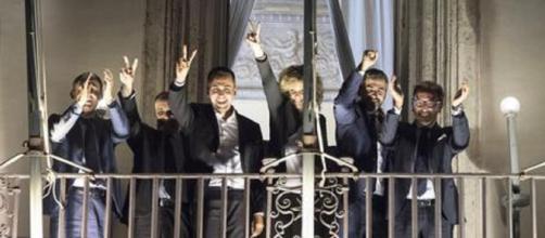 Salvini e Di Maio contro l'Europa
