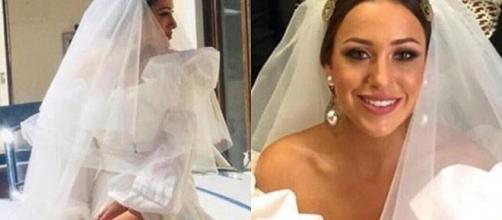Teresanna Pugliese, la scelta dell'abito da sposa ha diviso il web