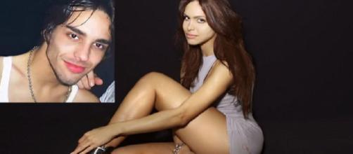 Transexual Viviany Beleboni antes e depois da intervenção cirúrgica (Imagem:Reprodução/Montagem)