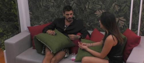 Francesco Monte e Giulia Salemi discutono al GF Vip