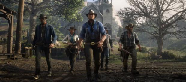 The PS4 Pro Bundle of RDR2' indicates that 'Red Dead Online' will support up to 32 players [Image Credit: Rockstar Games/YouTube screencap]