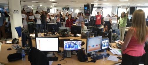 Los trabajadores de TVE denuncian la cobertura del 1-O mientras
