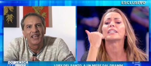 Domenica Live, insulti tra Lorenzo Crespi e Karina Cascella