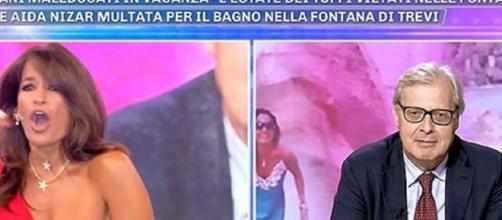 Aida Nizar e Vittorio Sgarbi ospiti a Pomeriggio 5