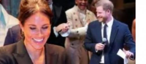 Meghan Markle & Prince Harry interacting with the people. [Image courtesy – Meghan Markle and Prince Harry News, YouTube video]