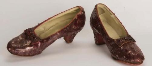 "The ruby slippers worn by Judy Garland in ""The Wizard Of Oz"" have been found after 13 years. [Image Associated Press/YouTube]"