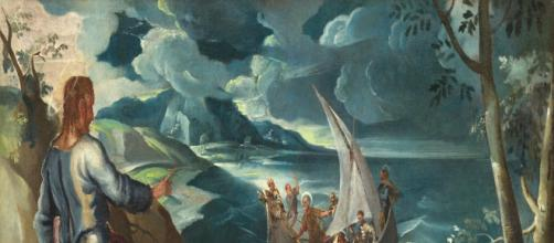 Christ at Sea of Galilee, a painting by Jacopo Tintoretto. [Image Source: Wikimedia Commons]