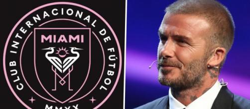 David Beckham ed il logo dell'Inter Miami