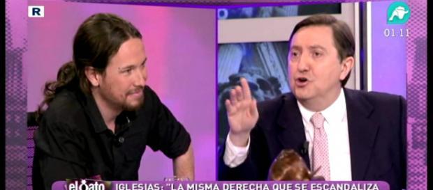 Pablo Iglesias y Jiménez Losantos en imagen