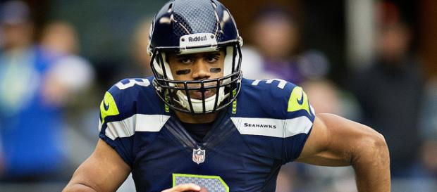 Russell Wilson will have to carry his team on his back for the Seahawks to succeed. [image source: Larry Maurer- Wikimedia Commons]
