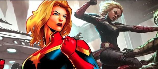 The new superhero film 'Captain Marvel' (starring Brie Larson) will arrive in theaters in March 2019. - [Screen Rant / YouTube screencap]