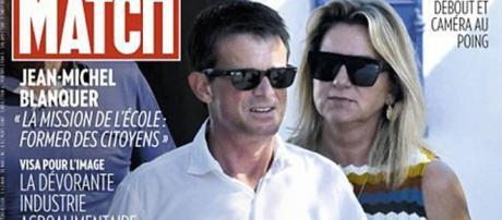 La portada de Paris Match con Valls y Gallardo por partida doble: vestidos y en bañador (él) y bikini (ella).