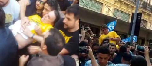 Bolsonaro é esfaqueado durante encontro com simpatizantes em MG (Foto: IstoÉ)