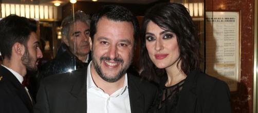 Matteo Salvini insieme alla fidanzata, la conduttrice televisiva Elisa Isoardi