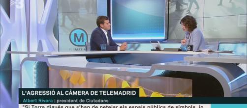 Rivera y Lídia Heredia, en el trascurso de la entrevista. / TV3