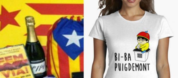 Puigdemont y las esteladas entre lo más vendido del merchandising independentista catalán