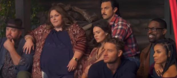 The main character from This Is Us are sharing a picture. (Image Credit: TV Promos/YouTube screencap