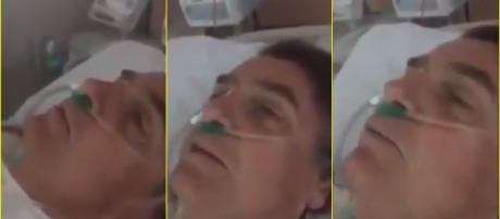 Bolsonaro gravou vídeo no hospital