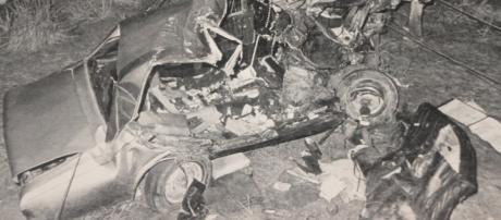 Carro do ex-presidente JK após o acidente