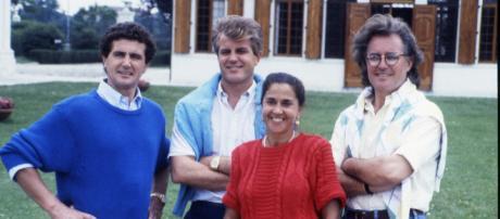 La famiglia Benetton in una immagine di alcuni anni fa