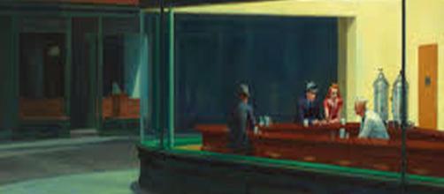 "Paintings on auction - ""Nighthawks"" by Edward Hopper Image source: Public Domain | Wikipedia"