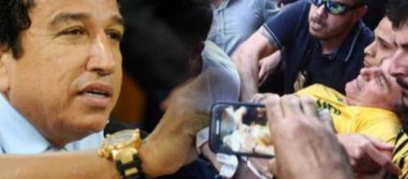 Senador Magno Malta e Jair Bolsonaro.