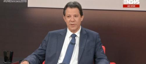 Haddad foi o entrevistado do canal Globo News