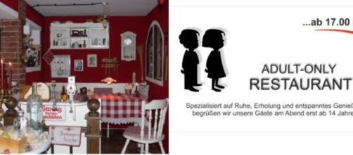 Ristorante tedesco vieta l'accesso ai minori di 14 anni dopo le 17 perché maleducati e chiassosi.