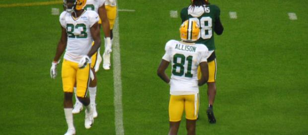 Geronimo Allison caught a touchdown pass in Week 1. [Image Source: Flickr | David Beasley]