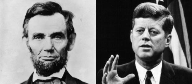 Os presidentes norte-americanos Lincoln e Kennedy