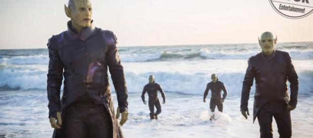 The Skrulls will make their MCU debut in the live-action 'Captain Marvel' movie [Image Credit: Emergency Awesome/YouTube screencap]