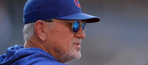 Joe Maddon is more than a little confused by Nats handling of weather issues. [Image via radio.com/YouTube]
