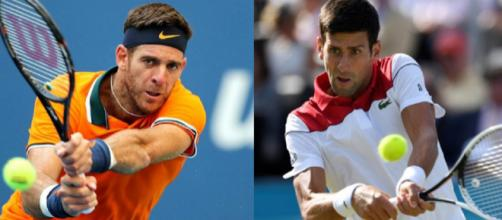 Juan Martin Del Potro e Novak Djokovic, finalisti ai US Open 2018