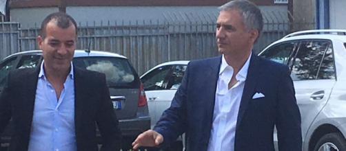 Meluso e Sticchi Damiani, Diesse e Presidente del Lecce. Foto ilpaesenuovo.it