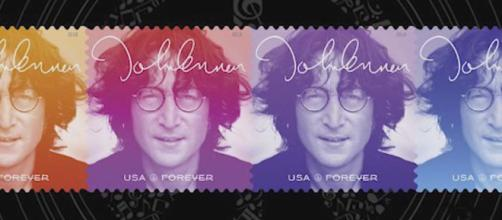 The US Postal Service unveiled a new John Lennon commemorative stamp on Friday. [Image Radio.com/YouTube]