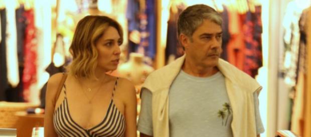 Willian Bonner e Natasha Dantas se casal em São Paulo. (Imagem: Reprodução)