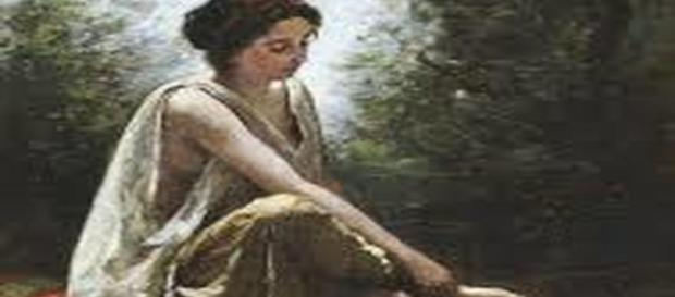 Wounded Eurydice by Camille Corot. - [Mrs. Egil Boeckmann / Wikimedia Commons]