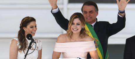 Michelle Bolsonaro discursando (Reprodução: Planalto.gov.br)