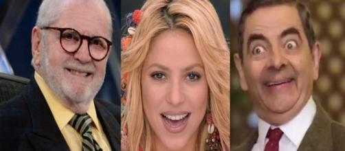 Jô Soares, Shakira e Rowan Atkinson possuem notas altas de QI (Foto: PDN Entretenimento)