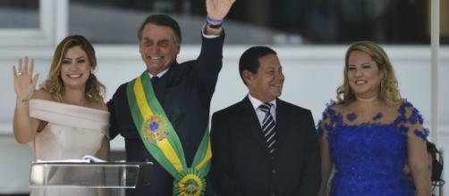 Posse de Bolsonaro é marcada por fortes emoções - (Marcelo Camargo/Agência Brasil)