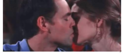 Victoria kisses both Cane and Billy. - [NickyTheManOfSoapsMvids / YouTube screencap]
