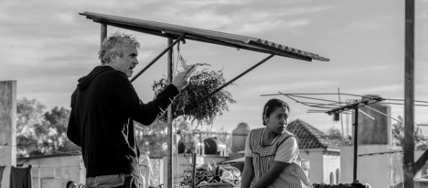 Alfonso Cuarón durante el rodaje de su película 'Roma'.