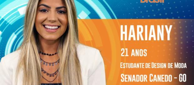 Hariany quer levar sua fama em Senador Canedo para todo o Brasil. Foto: TV Globo.